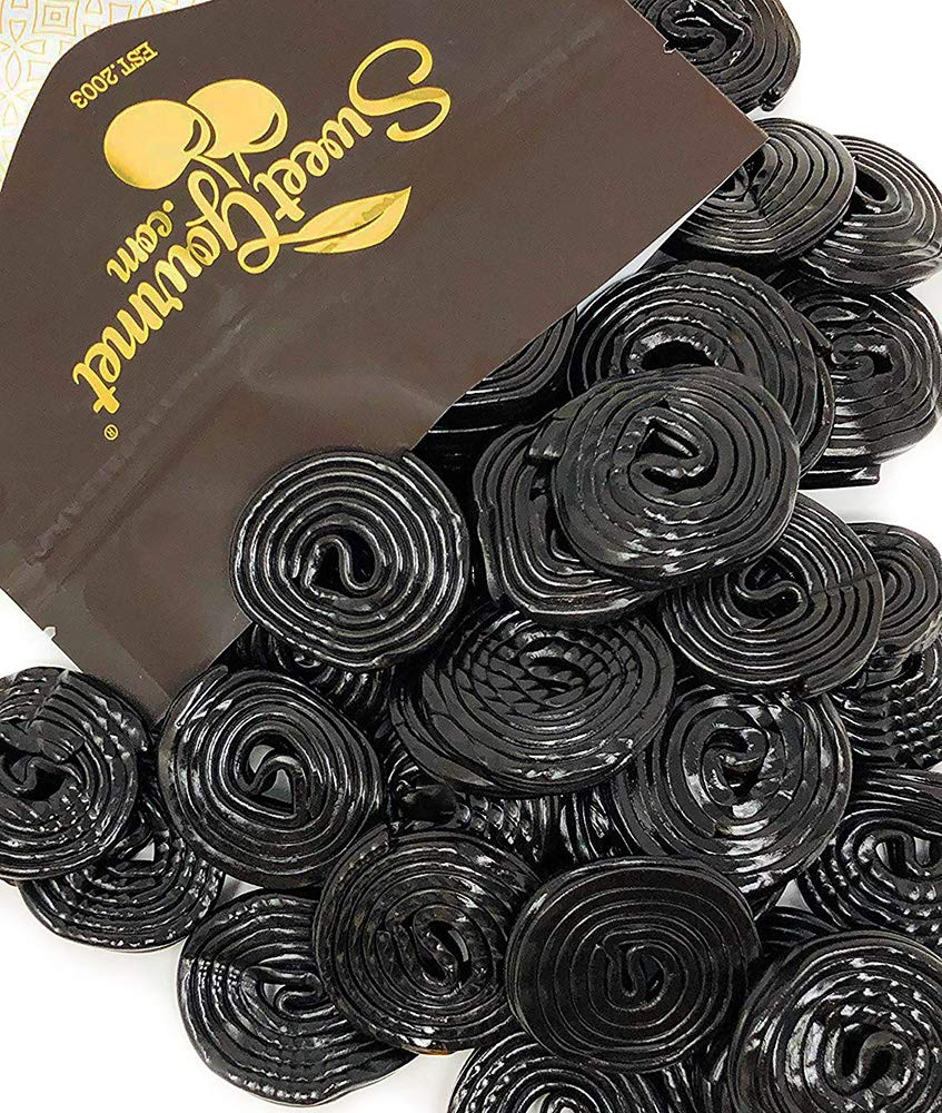 Italian Black Licorice Wheels | Bulk Candy | Natural Colors and Flavors, GMO Free | 1 Pound by SweetGourmet