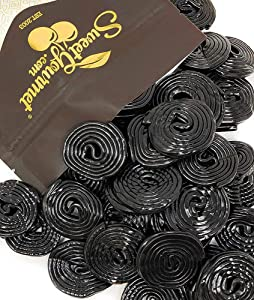 Italian Black Licorice Wheels | Bulk Candy | Natural Colors and Flavors, GMO Free | 1 Pound