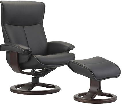 Groovy Amazon Com Fjords Senator Large Leather Recliner And Machost Co Dining Chair Design Ideas Machostcouk