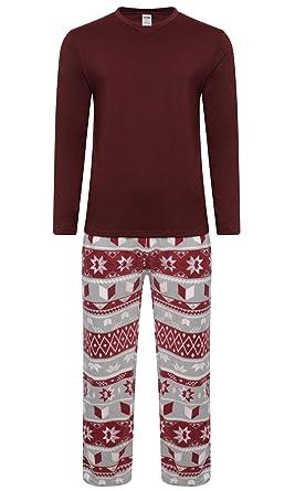 e9f72a13c6ab6 Ensemble pyjama nuit en polaire chaud pour l'hiver homme - Rouge - Medium