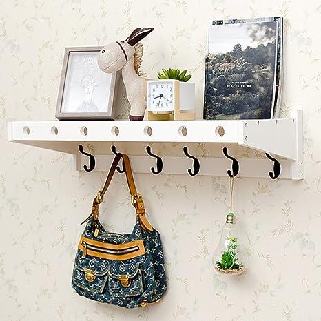 Amazon Bamboo Wall Mount ShelfCoat Hook Rack Unibody Unique Coat Hook Rack With Shelf