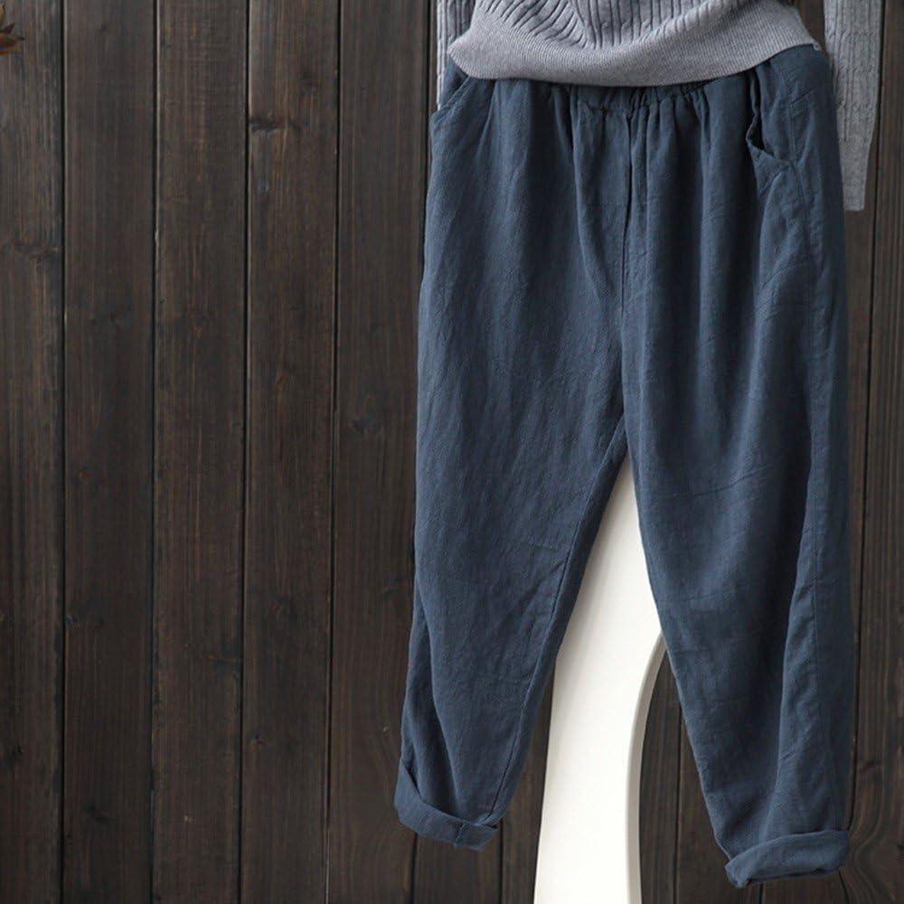 JUTOO Plus Size Women Linen Harem Pants Baggy Loose Trousers Casual Lady