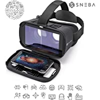 """VR Glasses, Virtual Reality Headset, 3D IMAX Movie/Game Viewer Compatible iPhone XR Xs X 8 7 6 S Plus Samsung Galaxy S9 S8 S7 S6 Edge+etc 4.0-6.33"""" Cellphone"""