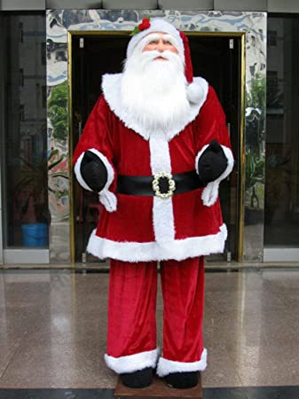 Vickerman Huge Life Size Decorative Plush Santa Claus Sitting Or Standing 6