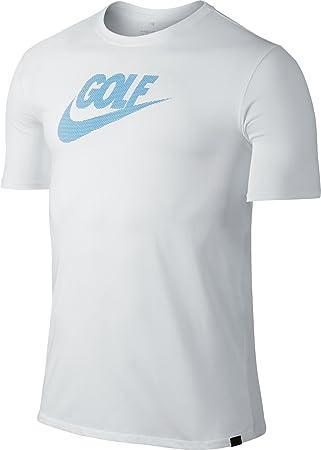 Nike Men's Seek Victory Lockup Golf T-Shirt (White, ...