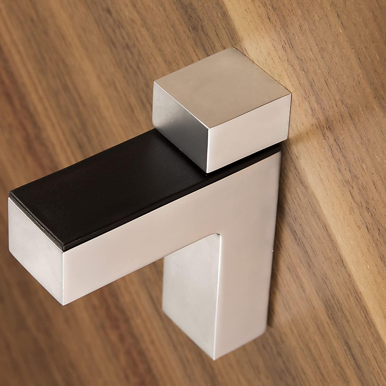 2 St/ück SO-TECH/® Regalbodentr/äger HULK Edelstahloptik Glasbodentr/äger Bodentr/äger f/ür Glas 45 mm St/ärke und Holzb/öden bis max