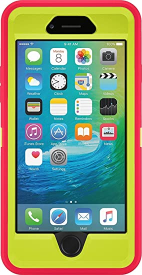 cheap for discount e1d14 07049 Otterbox Defender Case Iphone 6 6s Bulk Packaging Citron Green/Blaze Pink  (Case Only)