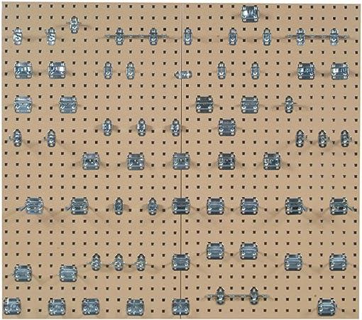 Locboard LB2-S Pr 42-1//2 in H X 24 in W Square Pegboard