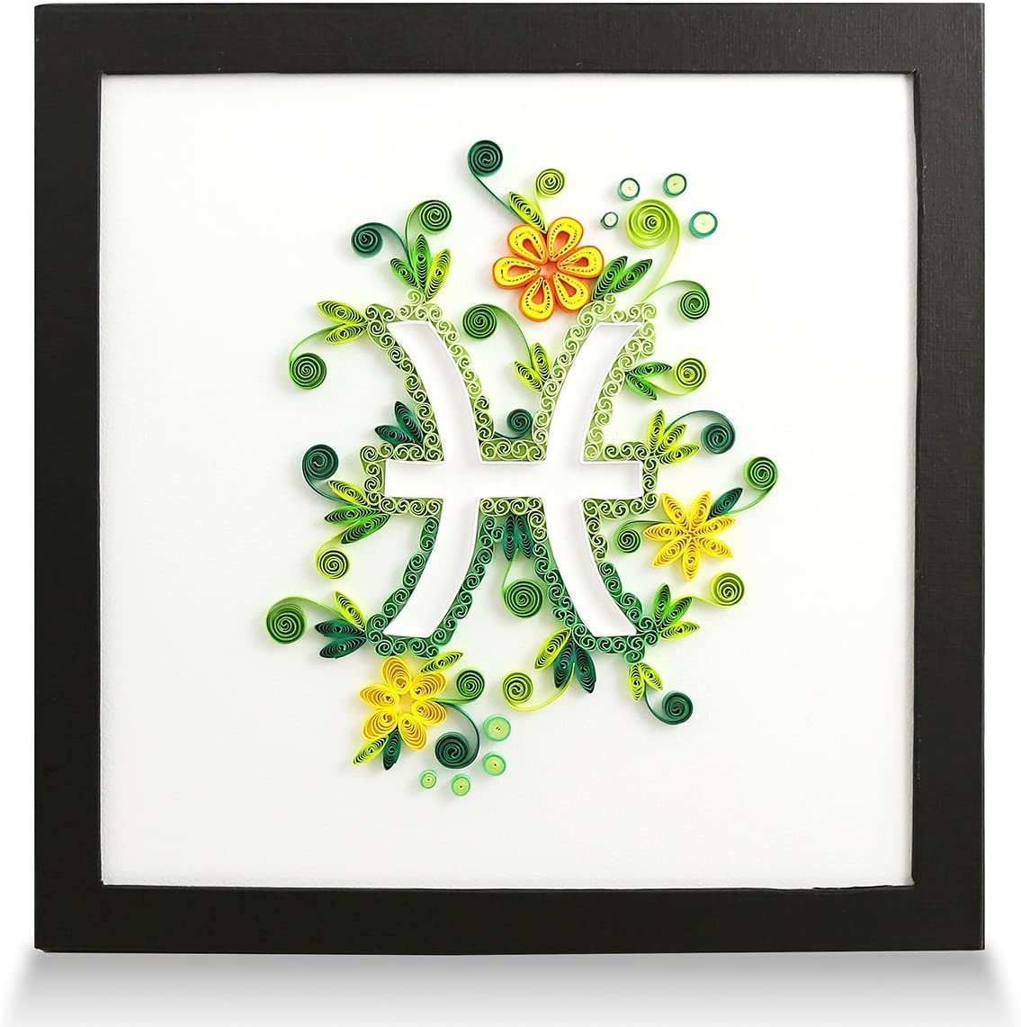Zodiac Pisces Handmade Personalized Gifts for Him Her Frame Paper Quilling 3D Wall Art for Home Decor