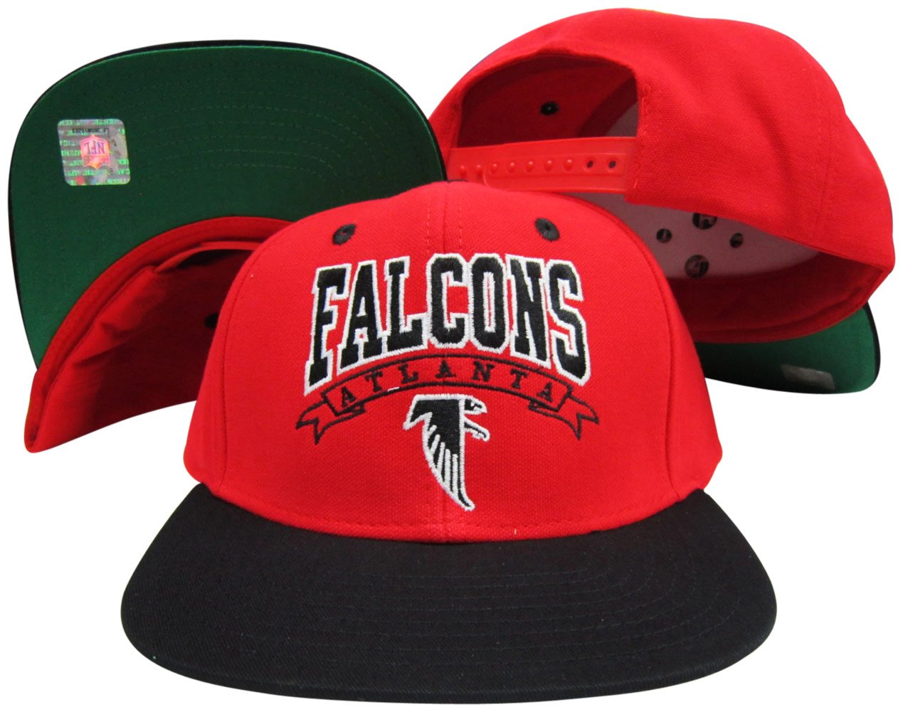 best loved 5a949 a72f5 ... best amazon atlanta falcons red black two tone plastic snapback  adjustable plastic snap back hat cap