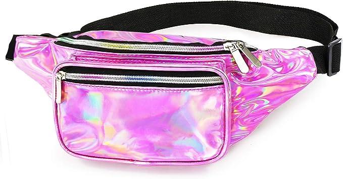 Rainbow Pride Fanny Pack Waist Bag Hip Belt Pouch Travel Purse Club-wear Punk