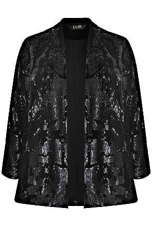 27d4b0ab4e47f Yours Clothing Women s Plus Size Velvet   Sequin Embellished Fully Lined Jacket  Size 30-32
