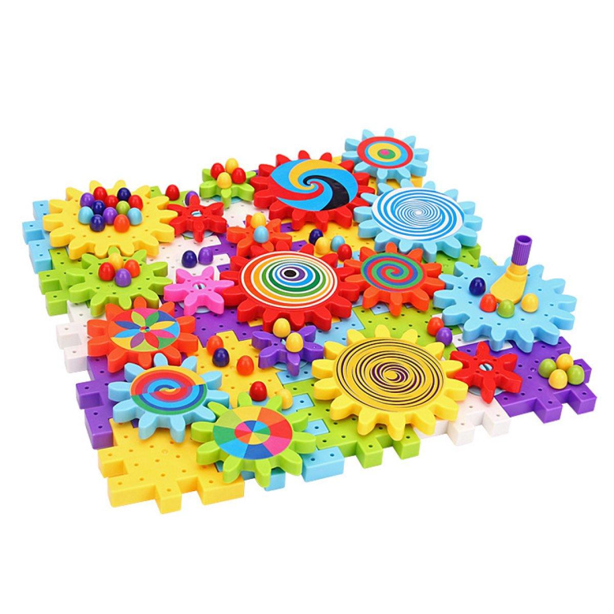 suministro directo de los fabricantes MEI Juguetes Para Niños Niños Niños Bloques Para Niños Puzzle Para Niños Partículas Grandes Engranaje Giratorio Bloques De Construcción Ensamblados Juguetes Tamaño Del Producto: 15 Pulgadas  12.4 Pulgadas  2.8 Pulgadas  más vendido