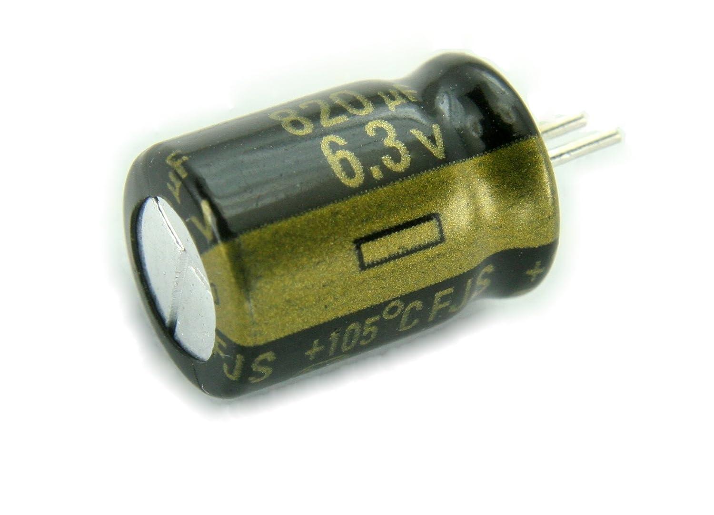 10pcs Panasonic FC 820uF 6.3v 105c Radial Electrolytic Capacitor Low ESR