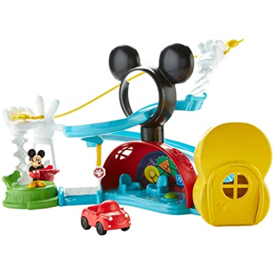 Fisher-Price DMC67 Disney Mickey Mouse Clubhouse – Zip, Slide & Zoom Clubhouse: Toys & Games
