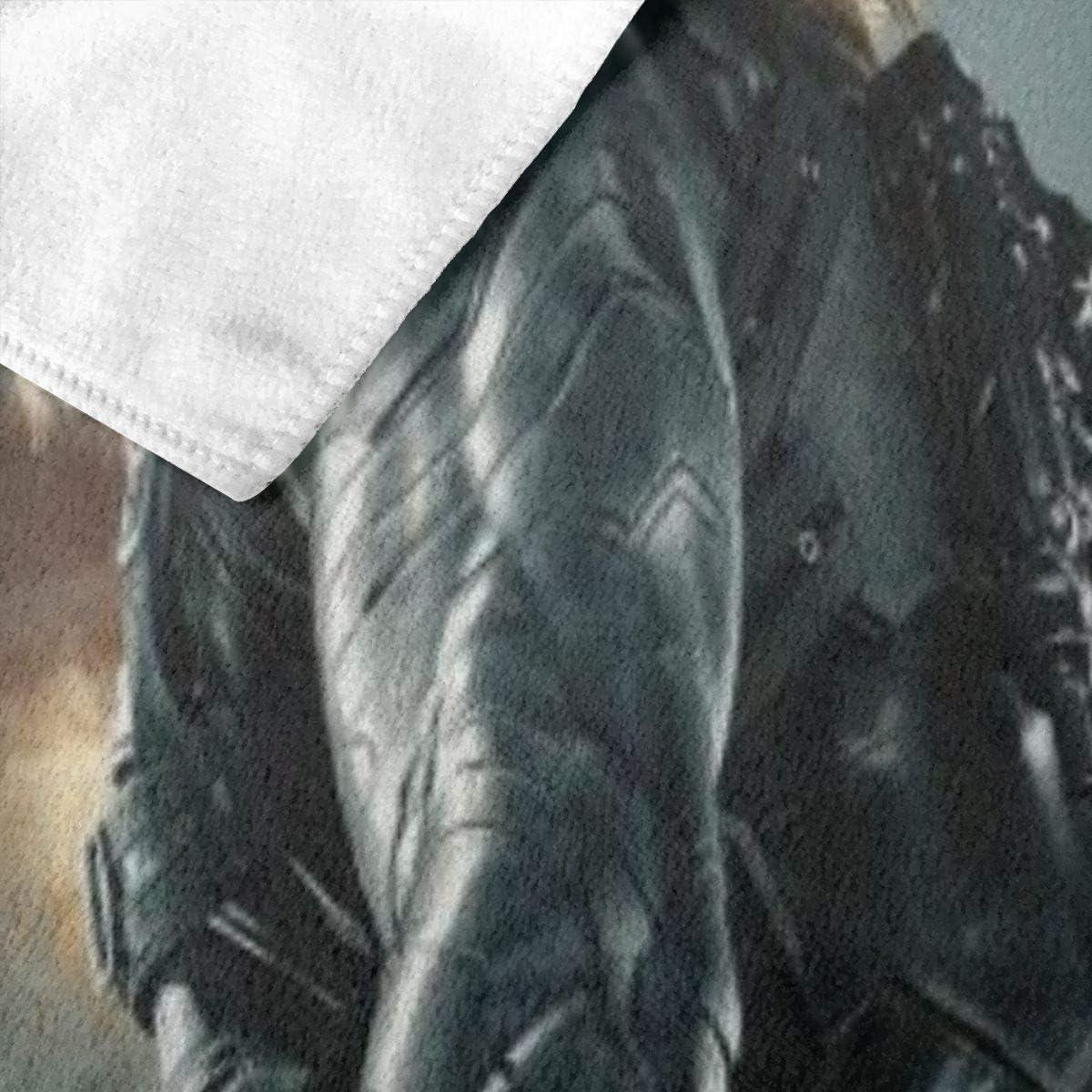 Zachary Sherman Bucky Barnes Serviette de Bain Anti-bact/érienne Douce de Haute qualit/é 130 x 80 cm