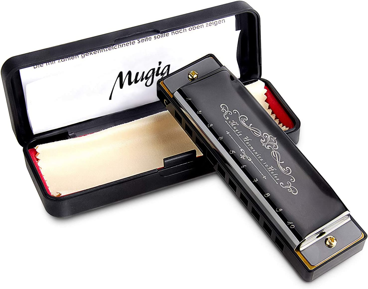 Mugig Harmonica, C Key Harmonica for Beginners