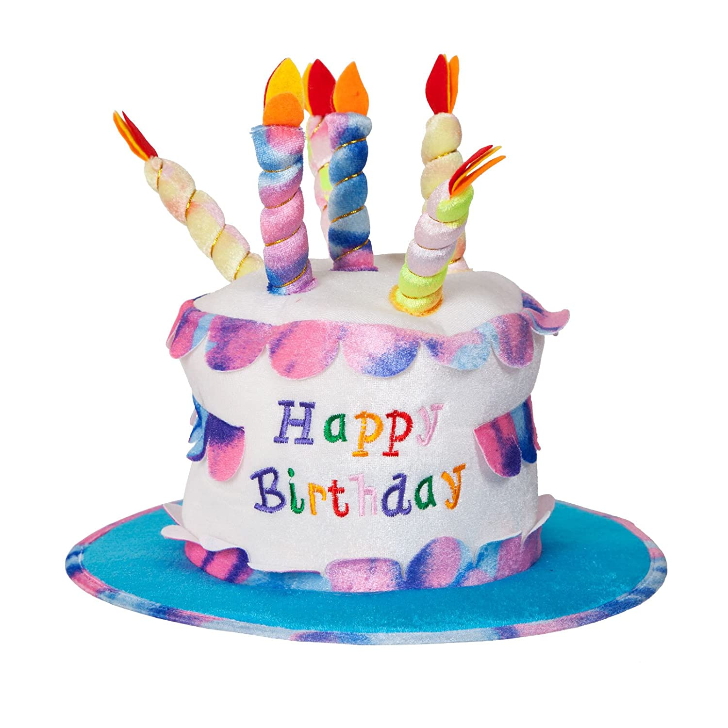 Amazon Adult Happy Birthday Cake Hat With Candles Fancy Dress