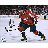 "$132 » Alex Ovechkin Washington Capitals Autographed 8"" x 10"" Red Jersey Goal Celebration Photograph - Fanatics Authentic Certified"