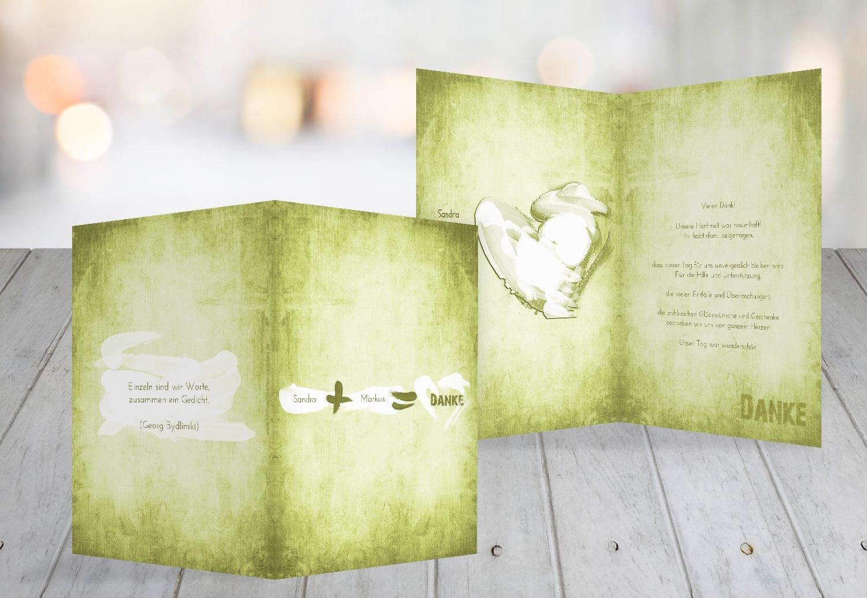 Kartenparadies Danksagung für Hochzeitsgeschenke Hochzeit Dankeskarte Du  Ich Ich Ich  Liebe 2, hochwertige Danksagungskarte Hochzeitsglückwünsche inklusive Umschläge   20 Karten - (Format  105x148 mm) Farbe  Matschgrün B01NCYF822   Ausge 72ed20