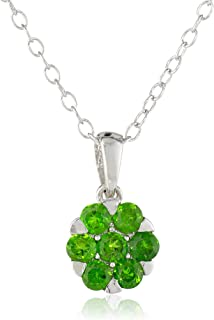 Amazon sterling silver chrome diopside ring size 8 jewelry sterling silver chrome diopside pendant necklace aloadofball Image collections