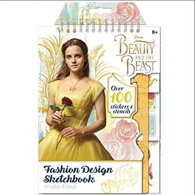 Make It Real Beauty and the Beast Disney Movie Fashion Design Sketch Book Art Kit: Toys & Games
