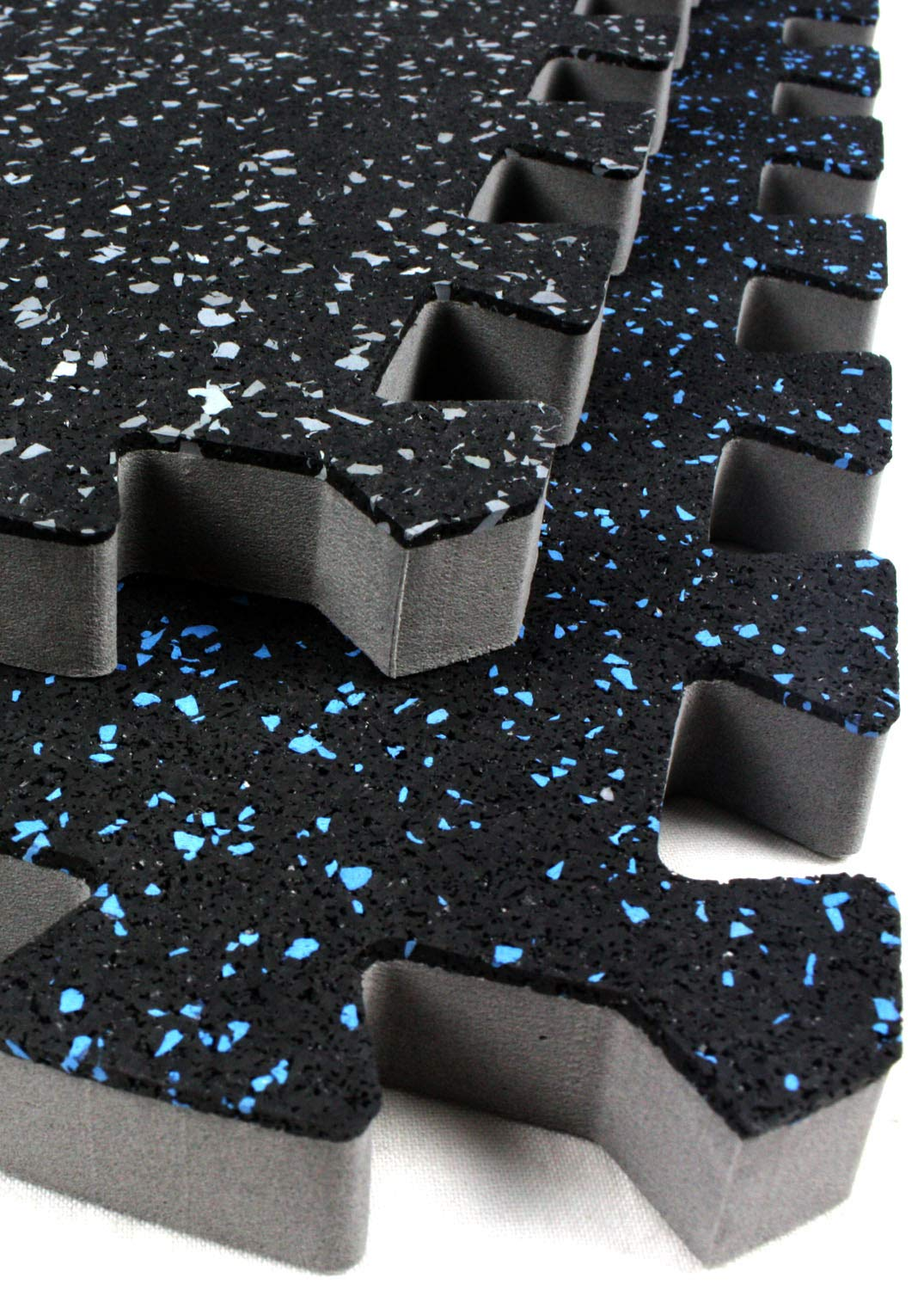 IncStores 3/4'' Soft Rubber Interlocking Gym Flooring Tiles - Perfect Mats for Home Gyms, Insanity, P90X, Cardio and More