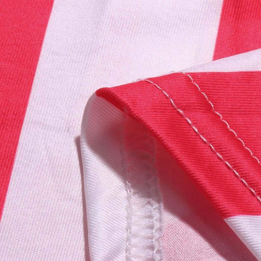 Misaky Womens Dress Summer Patriotic Casual Loose O-Neck Sleeveless Beach Patriotic Dress