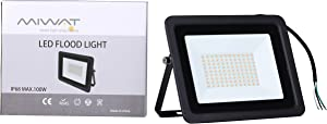 Ultra-Thin 10W 20W 30W 50W 100W Miheal LED Flood Light Spotlight Led Search Lamp 110V Floodlights for Outdoor Garden Street Square (Warm White, 100W)[Energy Class A++]