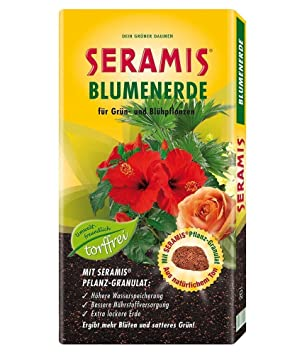 seramis® turba sin tierra para macetas 20 litros, 1 bolsa