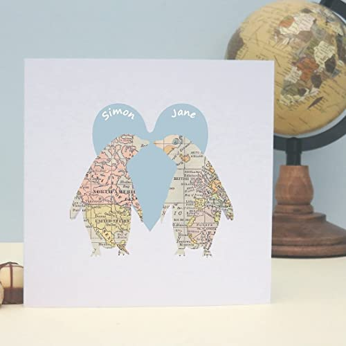 Hand-Made Personalised  /' Venue Map/' Wedding Card