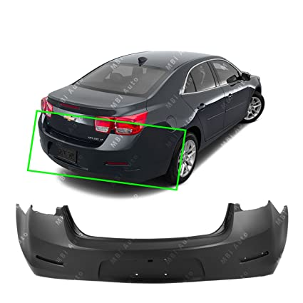 Amazon Com Mbi Auto Primered Rear Bumper Cover For 2013