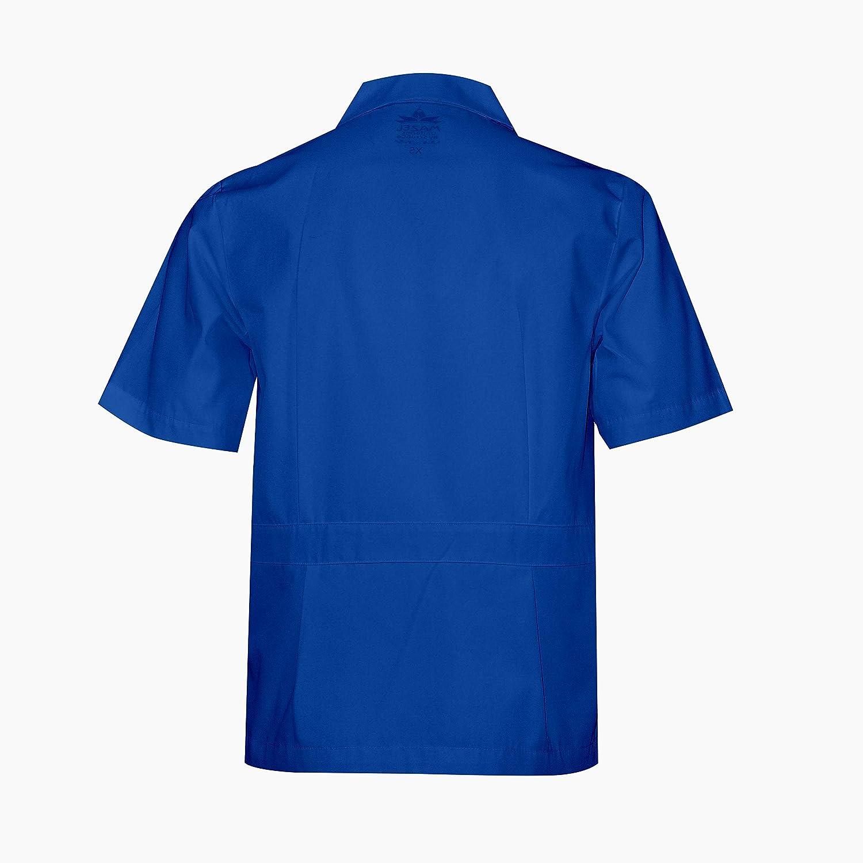 b9dd33155 MAZEL UNIFORMS Mens Zippered Short Sleeve Work Shirt and Scrub TOP ...