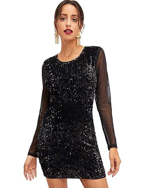 69c16e91b2ef SOLY HUX Vestidos de Fiesta para Mujer Vestidos con Mallas y ...