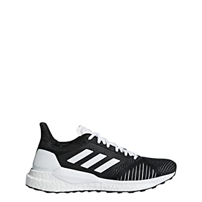 the best attitude 94ee7 5ce08 adidas Solar Glide ST Womens Running Trainer Shoe Black White - US 5.5