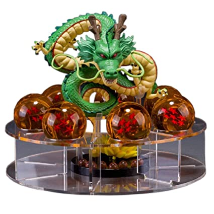 Acrylic Dragon Ball Set Z Shenron Action Figure Statue with 7pcs 3 5cm  balls and stand