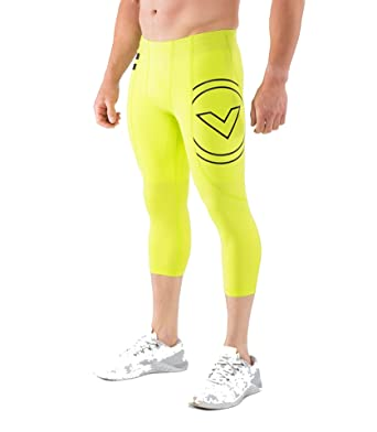 ad58e67ef8 Virus RX5 Stay Cool Compression Boot Cut 3/4 Length Crossfit Pants Lime  Punch at Amazon Women's Clothing store: