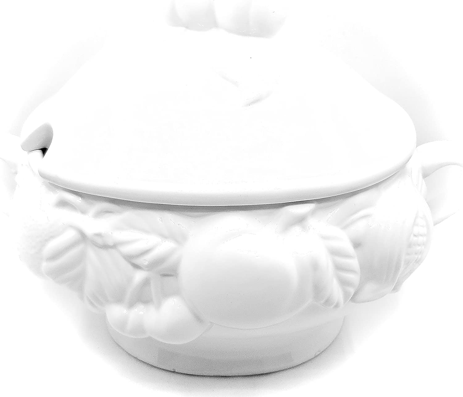 Intrada WHI7424 Baroque Soup Tureen White