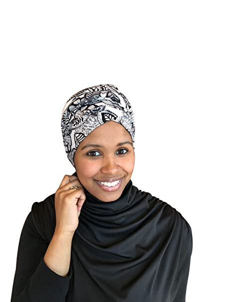 TheHijabStore Pull-On Easy Wear No-Wrap Jersey Turban Head Wear Hijab - Ivory