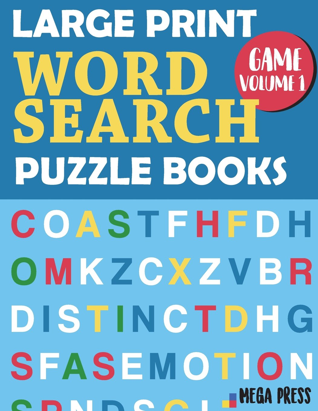 - Large Print Word Search Puzzle Books: Big Word Search Books For