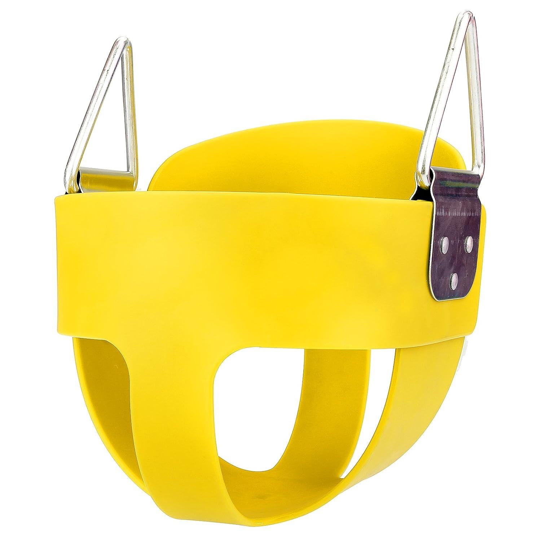 kemannerスイングセットHighback安全プラスチックフルバケットToddler Playground公園子供スイング席(米国Stock ) B075R7CMC4 イエロー