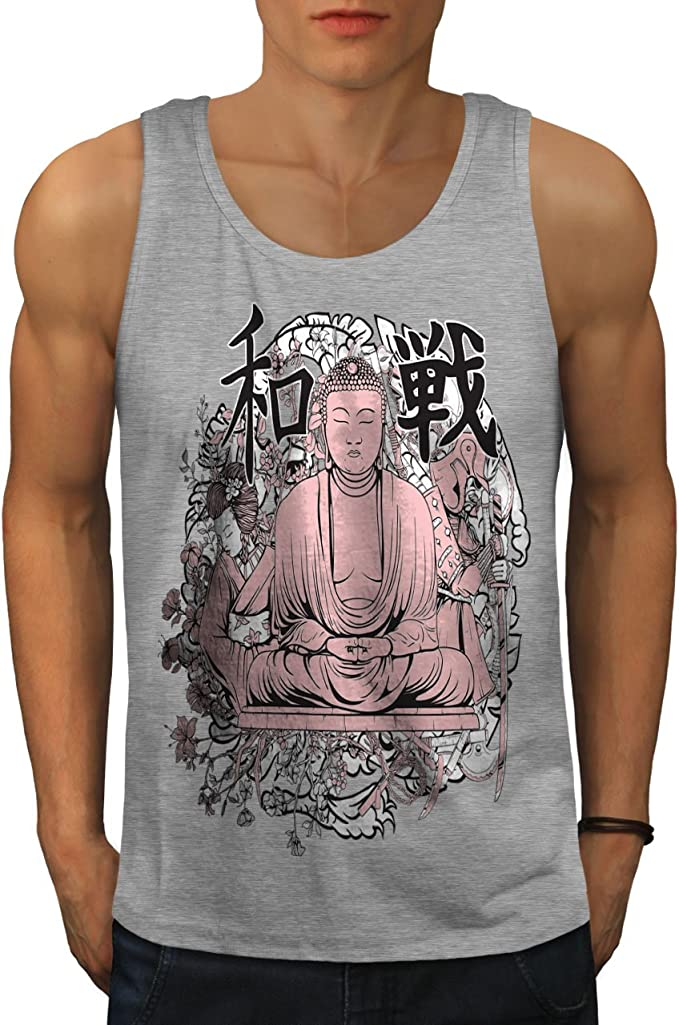 Hindu Active Sports Shirt Wellcoda Buddha Meditation Mens Tank Top