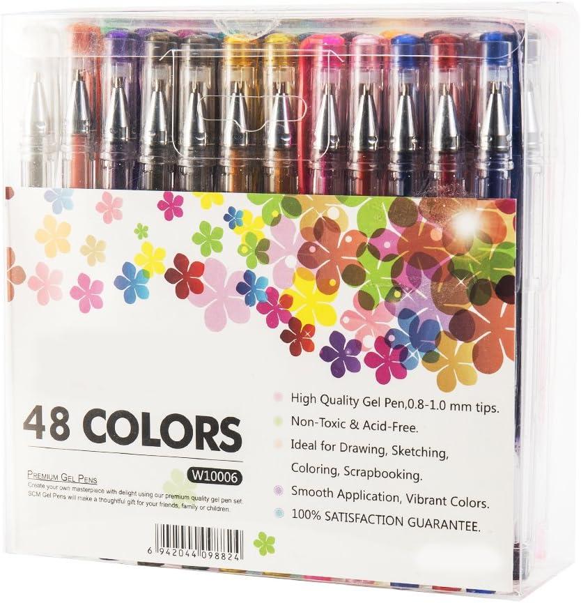scorpiuse Gel Pens Set de 48 60 100 para adultos Libros para Colorear Dibujo Pintura escritura arte marcadores: Amazon.es: Juguetes y juegos