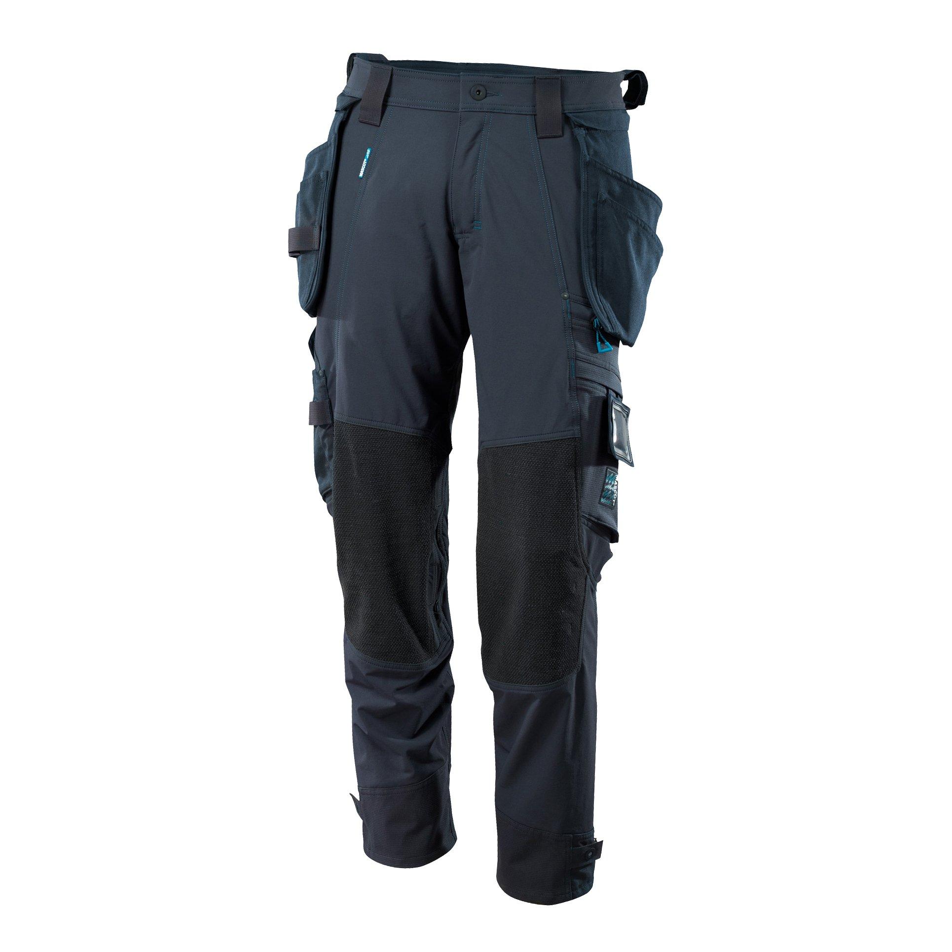 Mascot 17031-311-010-82C68 Trousers Safety Pants, Black/Blue, 82C68