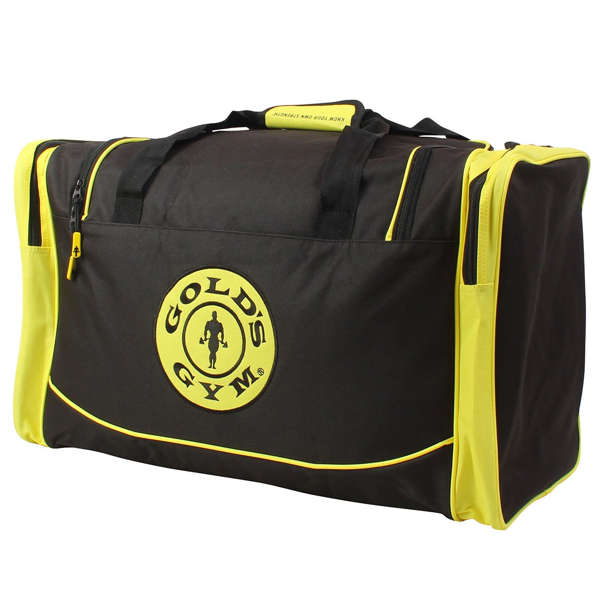 747a0ac2ad3d Gold s Gym 2017 Large Sports Duffel Bag Mens Gym Bag  Travel Holdall Black  Gold  Amazon.co.uk  Sports   Outdoors