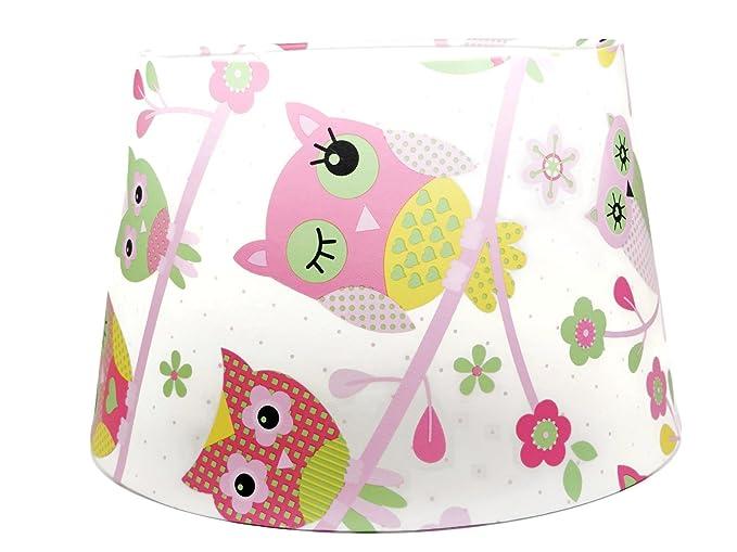 Owl lampshade ceiling light shade girls childrens kids pink owl owl lampshade ceiling light shade girls childrens kids pink owl woodland trees nursery bedroom room playroom aloadofball Choice Image