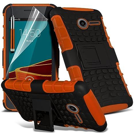 huge discount 1c979 01e1f Fone-Case ( Orange ) Vodafone Smart First 6 Case Brand New Luxury Tough  Survivor Hard Rugged Shock Proof Heavy Duty Case W/ Back Stand, LCD Screen  ...
