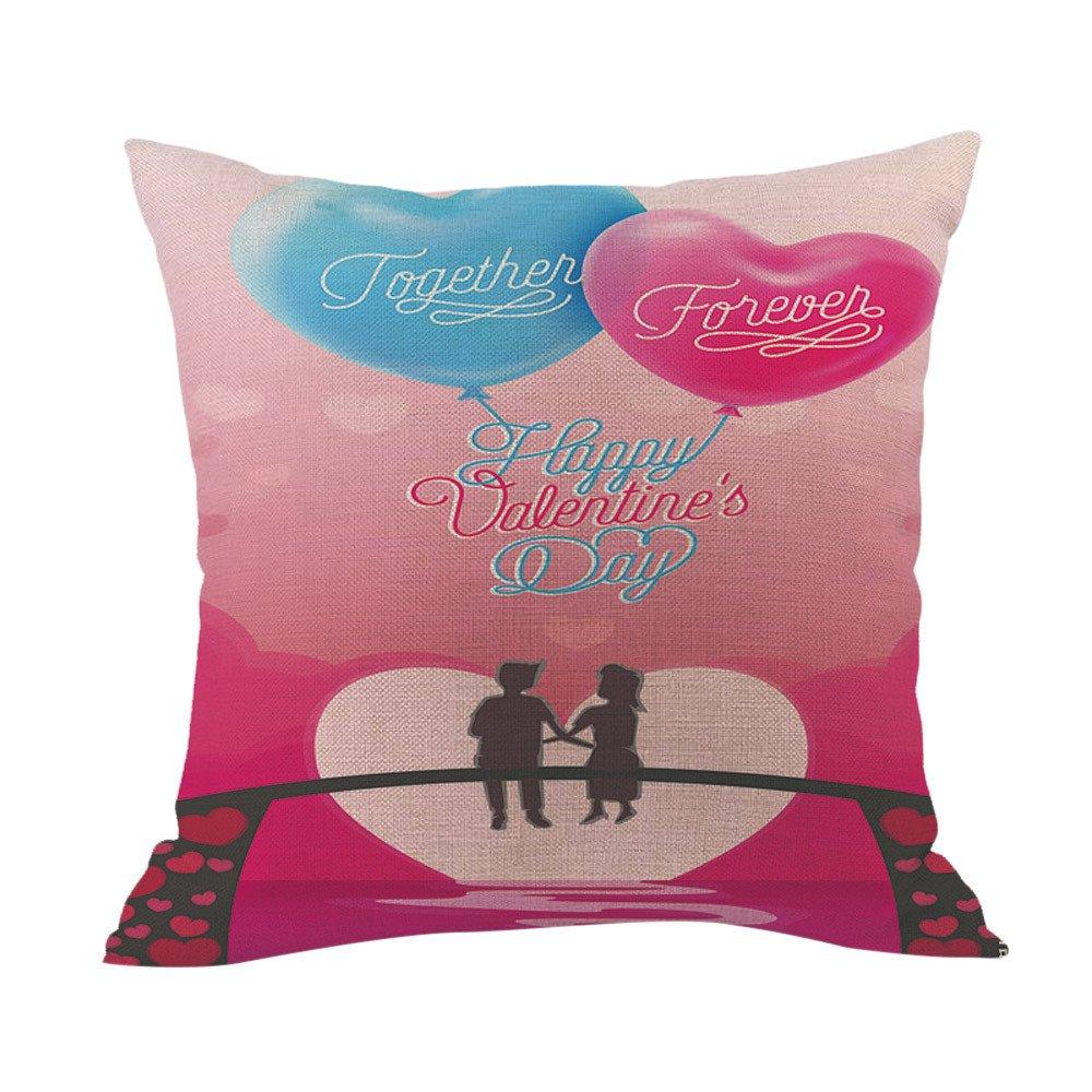 DIPOLA Funda de Almohada Happy LoveS Day Throw Funda de Cojín Sweet Love Square Regalo para el Amor (No Incluye Almohada Interior): Amazon.es: Hogar