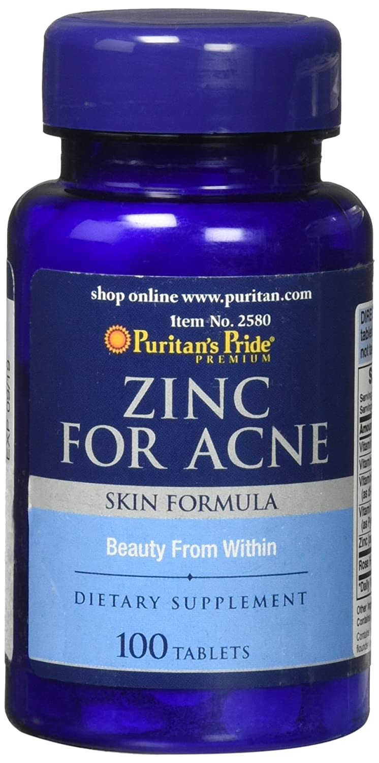 Puritan's Pride Zinc For Acne 100 Tablets by Puritan's Pride