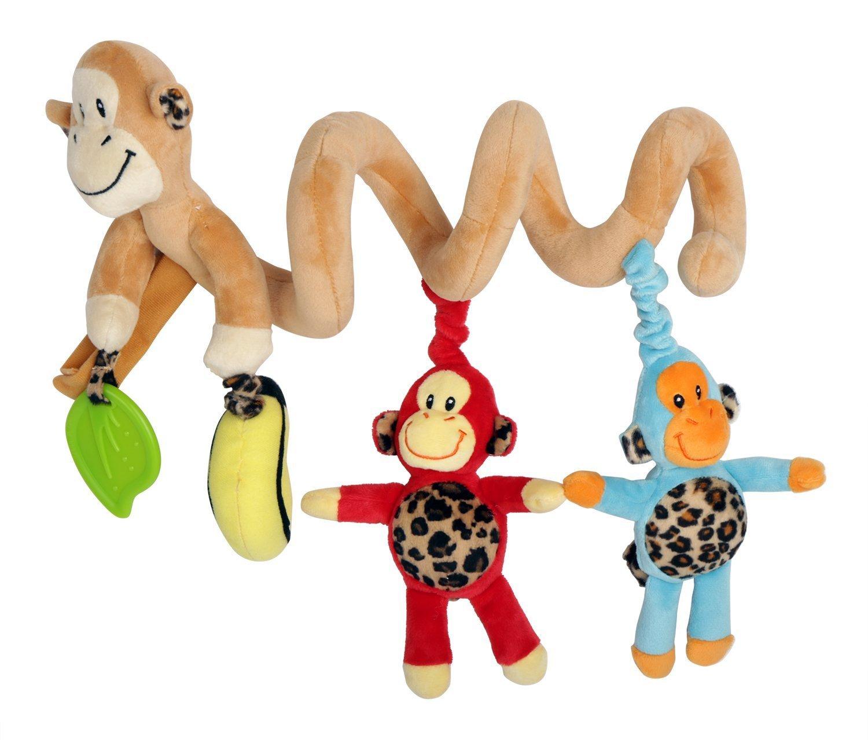 HLC Juguetes Colgantes Espiral de Animales para Cuna Cochecito Carrito Niños Niñas Diseño de Mono Multicolor: Amazon.es: Juguetes y juegos